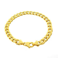 gold plated sterling silver bracelet images Shop goldplated sterling silver 8mm hollow cuban link bracelet jpg