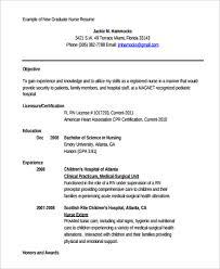 New Grad Nursing Resume Examples by 41 New Grad Rn Resume Template Rn Resume Resume Nurse