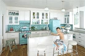 Blue Tile Kitchen Backsplash Blue Kitchen Backsplash View In Gallery Blue Mosaic Tile