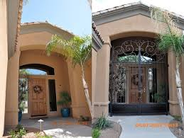 wrought iron gates entry mediterranean with entrance gate arched