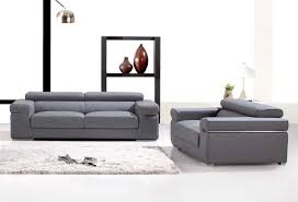 canap gris cuir canape deco in ensemble canape 3 2 places en cuir gris