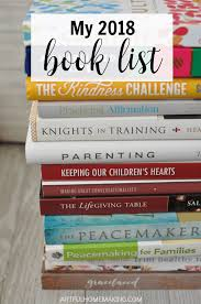Book List Books For Children My Bookcase My 2018 Book List A Reading List For Artful Homemaking