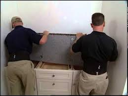 Installing A Vanity Top Installing A Granite Vanity Top Youtube