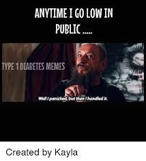 Type 1 Diabetes Memes - anytime go lowin public type 1 diabetes memes well ipanickedbut