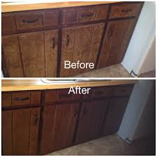 Stain Kitchen Cabinets Before And After Gel Stain Kitchen Cabinets Without Sanding Best Home Furniture