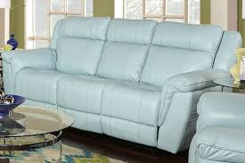 Baby Blue Leather Sofa And Recliner Set Modern Recliner Sofa Light Blue Leather
