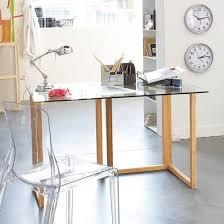plateau verre tremp bureau bureau dessus verre bureau directorial plateau verre et pied mtal