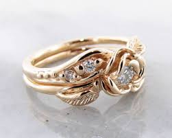rose rings images Diamond yellow gold wedding ring set prize tea rose wexford jpg