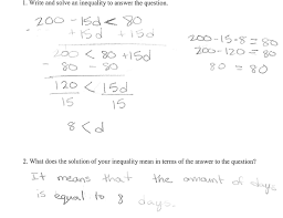 Converting Celsius To Fahrenheit Worksheets Recycled Inequalities Students Are Asked To Solve A Real World