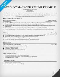 Clerical Resumes Examples by Account Manager Resume Sample Resume Samples Across All