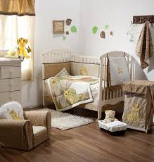 amazing unisex baby room with wild themes featuring wooden baby