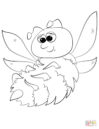 cute cartoon bumblebee coloring page free printable coloring pages
