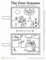 Kindergarten Weather Worksheets Four Seasons Activity Placemat Weather Seasons Worksheets And