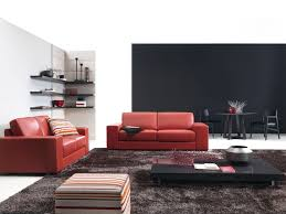 red sofa decor and decoration minimalist home decorating with red