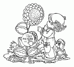 big spring flower coloring page for kids seasons coloring pages
