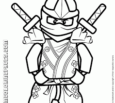 ninjago coloring pages kai free printable lego ninjago coloring