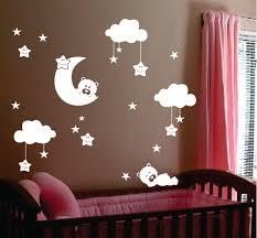 sleepy bears moon clouds vinyl wall lettering vinyl wall