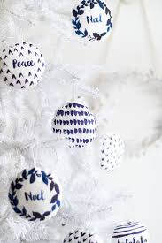diy watercolour printed fabric bauble christmas decorations