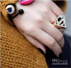 s ring 2017 unique rings modern western style s superman triangle ring