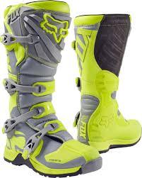 womens dirt bike boots australia fox racing youth hi vis yellow grey comp 5 dirt bike boots 2017
