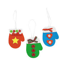 mitten christmas ornament craft kit orientaltrading com