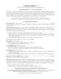 sample resume for business business analyst resume template sample