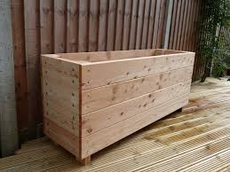large garden planters search decking