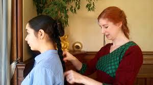 howtododoughnut plait in hair ihayami school hair tutorial single doughnut with braid youtube