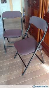 chaises pliables lot de 2 chaises pliables vintage 80 bureau salle d attente a