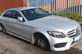 mercedes in manchester thieves target football fan s mercedes in parking own goal