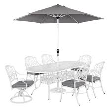 Patio Dining Sets With Umbrella Home Styles Floral Blossom White 5 Piece Patio Dining Set With