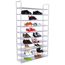 50 pair 10 tiers shoe rack shelf storage organizer shoe racks