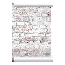 white washed brick wallpaper self adhesive peel and stick