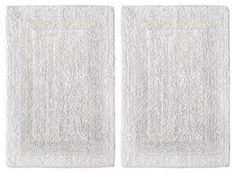 White Bathroom Rugs Reversible Cotton Bath Rug Amazon Com