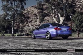matte purple maserati 2012 bmw f10 wrapped in matte metallic purple sitting on concavo