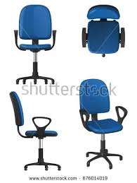 white upholstered office chair twisting office chair on wheels blue เวกเตอร สต อก 676014019