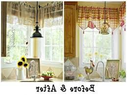 French Country Roman Shades - kitchen fascinating country kitchen curtains intended for french