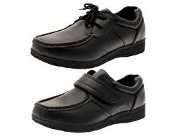 kids boys shoes mens work black faux leather shoes casual