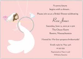 words for bridal shower invitation sle bridal shower invitations vertabox