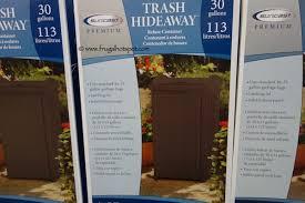 costco sale suncast premium resin trash hideaway 23 99 frugal