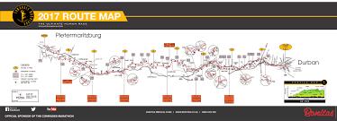 Marathon Route Map by Comrades Marathon 2017