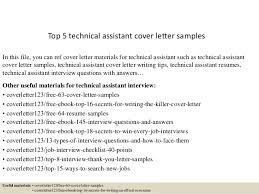 cover letter assistant top 5 technical assistant cover letter sles 1 638 jpg cb 1434846322