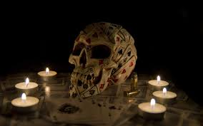 artwork skull cards candles wallpapers hd