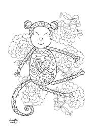 year of the monkey 3 zen and anti stress coloring pages for