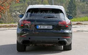 porsche suv blacked out 2018 porsche cayenne spied inside and out with cleaner look