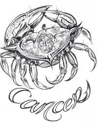cancer zodiac tribal tattoos crab tattoo design royalty free