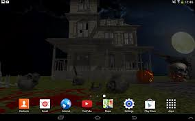 pixel halloween background 3d halloween live wallpaper fr android apps on google play