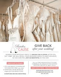 wedding dress donation give back after your wedding brides for a cause
