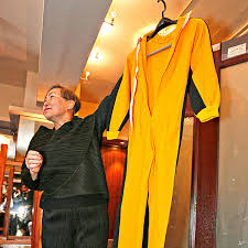 bruce yellow jumpsuit yellow jumpsuit of bruce sold for 100k at hong kong auction