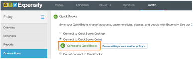 quickbooks integration with expensify